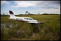 Crashed plane in marsh, Shark Valley. Everglades National Park ( color)