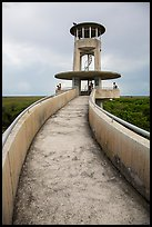 Observation tower and visitors, Shark Valley. Everglades National Park ( color)