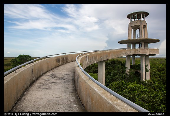 Shark Valley observation tower. Everglades National Park (color)
