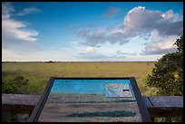Grassy waters intepretive sign, Pa-hay-okee. Everglades National Park ( color)