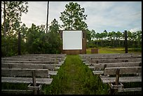 Amphitheater, Long Pine Key Campground. Everglades National Park ( color)