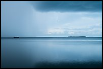 Approaching storm, Florida Bay. Everglades National Park ( color)