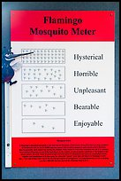 Flamingo Mosquito Meter. Everglades National Park ( color)