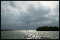 Storm clouds and canoe, Florida Bay. Everglades National Park ( color)