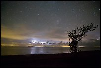 Thunderstorms at night over Florida Bay seen from Flamingo. Everglades National Park, Florida, USA.