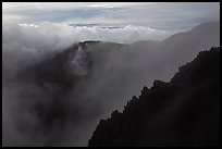 Ridges and clouds, Haleakala crater. Haleakala National Park ( color)