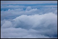 Clouds seen from Haleakala summit. Haleakala National Park ( color)