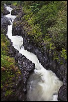 Pipiwai Stream in Oheo Gulch. Haleakala National Park, Hawaii, USA. (color)