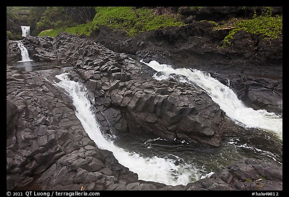 Pipiwai Stream, high water. Haleakala National Park (color)