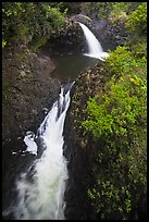 Oheo stream double falls. Haleakala National Park, Hawaii, USA.