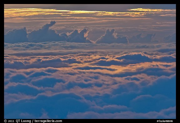 Sea of clouds at sunset. Haleakala National Park (color)