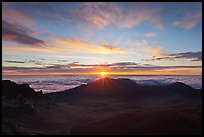 Sun rising, Haleakala Crater. Haleakala National Park ( color)