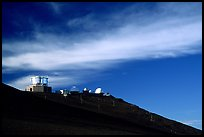 Observatory atop Red Hill. Haleakala National Park, Hawaii, USA. (color)