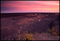 Kilauea caldera at sunset. Hawaii Volcanoes National Park, Hawaii, USA.