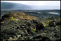 Volcanic landscape of lava field near Mauna Ulu crater. Hawaii Volcanoes National Park, Hawaii, USA.