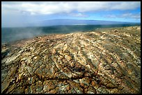 Unstable lava crust on Mauna Ulu crater. Hawaii Volcanoes National Park, Hawaii, USA.