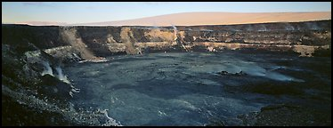 Volcanic crater and extinct shield volcano. Hawaii Volcanoes National Park, Hawaii, USA.