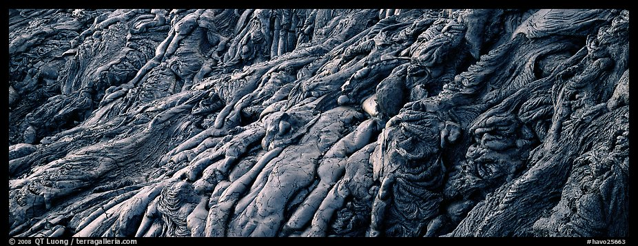 Detail of hardened lava flow. Hawaii Volcanoes National Park (color)