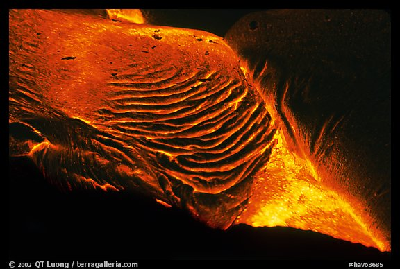 Close-up of molten lava. Hawaii Volcanoes National Park, Hawaii, USA.