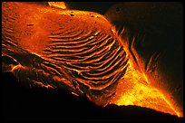 Close-up of molten lava. Hawaii Volcanoes National Park, Hawaii, USA. (color)