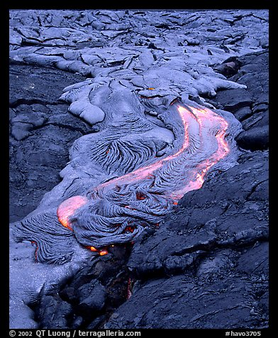 Fluid lava flow detail. Hawaii Volcanoes National Park (color)