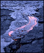 Fluid lava flow detail. Hawaii Volcanoes National Park, Hawaii, USA. (color)