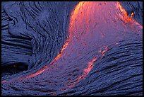 Close-up of red lava flow. Hawaii Volcanoes National Park, Hawaii, USA.