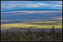 Layered landscape, Mauna Loa. Hawaii Volcanoes National Park, Hawaii, USA. (color)