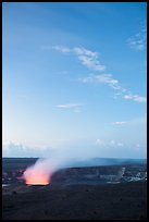 Volcanic plume, Halemaumau crater, Kilauea. Hawaii Volcanoes National Park, Hawaii, USA. (color)