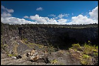 Pit crater. Hawaii Volcanoes National Park ( color)