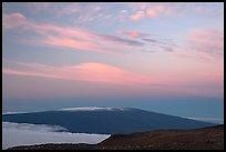 Mauna Loa at dawn. Hawaii Volcanoes National Park ( color)