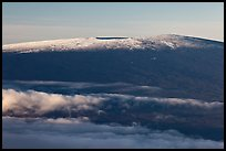 Snow on Mauna Loa summit. Hawaii Volcanoes National Park, Hawaii, USA.