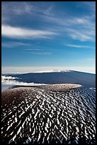 Mauna Kea cinder cone and Mauna Loa. Hawaii Volcanoes National Park, Hawaii, USA. (color)