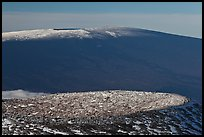 Craters on cinder cone and Mauna Loa. Hawaii Volcanoes National Park, Hawaii, USA. (color)