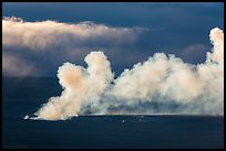 Halemaumau volcanic plume at sunrise from Mauna Loa. Hawaii Volcanoes National Park ( color)