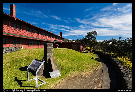Volcano House. Hawaii Volcanoes National Park (color)