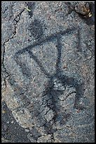 Close-up of anthropomorph petroglyph. Hawaii Volcanoes National Park ( color)
