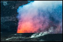 Fumeroles and plume from Halemaumau lava lake. Hawaii Volcanoes National Park ( color)