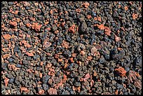 Ground close-up with multicolored lava, Mauna Loa. Hawaii Volcanoes National Park, Hawaii, USA. (color)
