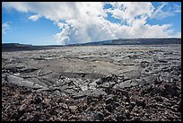 Mauna Loa Summit Crater from North Pit. Hawaii Volcanoes National Park, Hawaii, USA. (color)