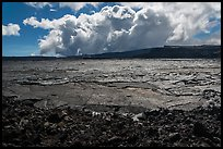 Mokuaweoweo crater and clouds, Mauna Loa. Hawaii Volcanoes National Park ( color)