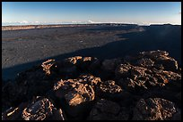 Mokuaweoweo caldera with late afternoon shadows. Hawaii Volcanoes National Park, Hawaii, USA. (color)