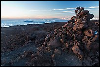 Summit cairn, Mauna Loa. Hawaii Volcanoes National Park ( color)