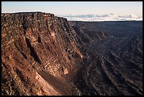 Mauna Loa summit cliffs. Hawaii Volcanoes National Park, Hawaii, USA. (color)