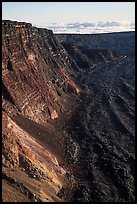 Summit cliffs, Mauna Loa. Hawaii Volcanoes National Park ( color)