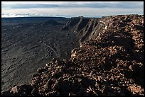 Mokuaweoweo caldera rim from Mauna Loa summit. Hawaii Volcanoes National Park ( color)