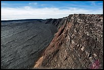 Mokuaweoweo caldera and Mauna Loa true summit. Hawaii Volcanoes National Park ( color)