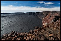 Mokuaweoweo caldera from Mauna Loa secondary summit rim. Hawaii Volcanoes National Park, Hawaii, USA. (color)