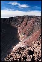 Mauna Loa summit rising above  Mokuaweoweo crater. Hawaii Volcanoes National Park ( color)