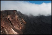 Approaching clouds from Mauna Loa summit. Hawaii Volcanoes National Park ( color)